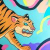 Tiger painting